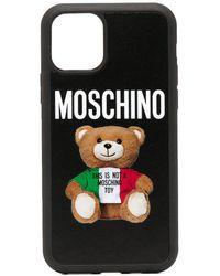 Moschino Cover per iPhone 11 Pro Teddy Bear - Nero