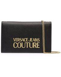 Versace Jeans Couture Borsa a tracolla con logo in nero - donna