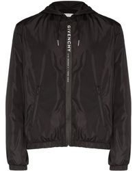 Givenchy Giacca a vento con zip e cappuccio - Nero