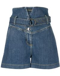 Pinko Shorts denim a vita alta - Blu
