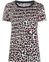 Moschino T-shirt con stampa - Nero