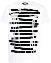 DSquared² T-shirt con stampa - Bianco