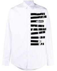 DSquared² Camicia a righe - Bianco