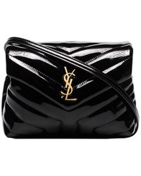 """Saint Laurent Bag Toy LOULOU nera in pelle trapuntata a """"Y"""" - Nero"""