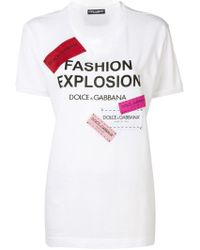 5e7cdbe36ebb T-shirt da donna di Dolce & Gabbana a partire da 145 € - Lyst