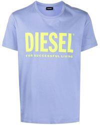 DIESEL T-shirt con stampa - Viola