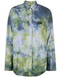 Pinko Camicia con fantasia tie dye - Blu