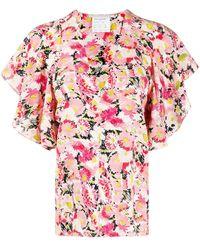 Stella McCartney Blusa a fiori - Rosa