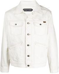 Tom Ford Giacca-camicia denim - Bianco