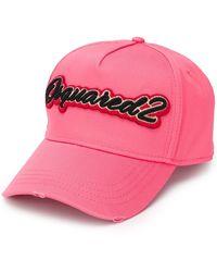 DSquared² Cappello da baseball con ricamo - Rosa