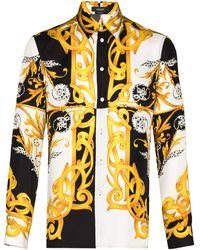 Versace - Camicia Barocco con stampa - Lyst