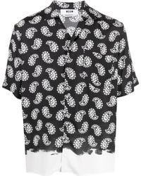 MSGM Camicia con stampa paisley - Nero