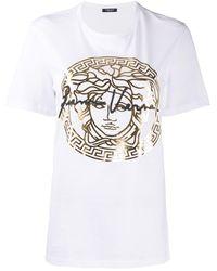 Versace T-shirt con stampa Medusa - Bianco