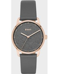 DKNY - Greenpoint 36mm Rose Gold-tone Stainless-steel Watch With Leather Strap - Lyst