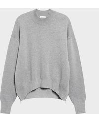 DKNY - Sweater With Side Zips - Lyst