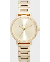 DKNY - Modernist Stainless Steel Gold-tone Watch - Lyst