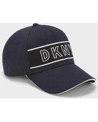 DKNY Colorblock Logo Hat - Blue