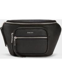 DKNY Abby Pebbled Belt Bag - Black