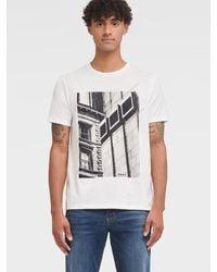 DKNY City Window Graphic Tee - White