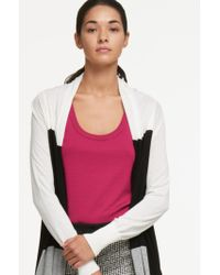 DKNY - Waterfall Front Cardigan - Lyst