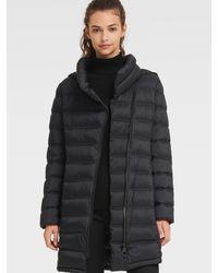 DKNY Asymmetrical Packable Puffer - Black