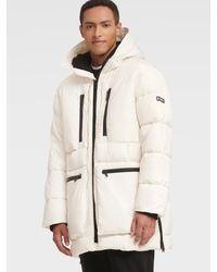 DKNY Multi-pocket Hooded Parka - White