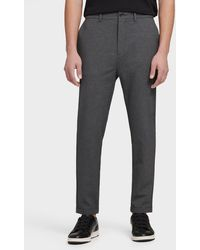 DKNY Slim Cropped Tapered Pant - Gray