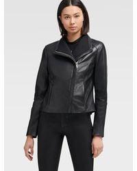 DKNY Leather Jacket - Black