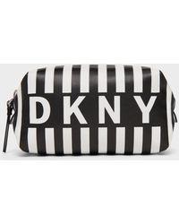 DKNY Stripe Logo Cosmetic Pouch - Multicolor