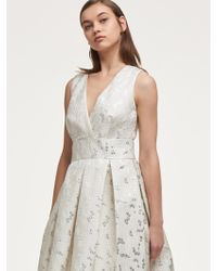 DKNY - Textured Fit-and- Flare Dress - Lyst