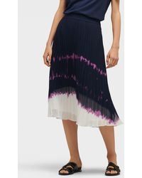 DKNY - Tie-dye Pleated Skirt - Lyst