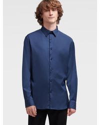DKNY Sateen Button-up - Blue