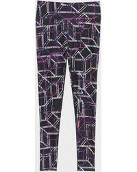 DKNY - Metro Printed High-waisted Full-length Legging - Lyst