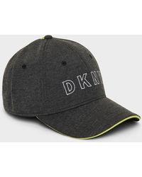 DKNY Jersey Hat With With Contrast Piping - Multicolor