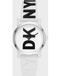 DKNY - Soho 34mm Silicone Logo Watch - Lyst