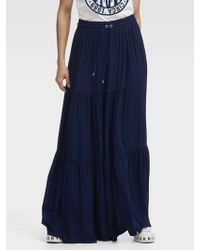 DKNY - Tiered Maxi Skirt - Lyst