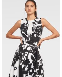 DKNY Sleeveless Fit And Flare Dress - Black