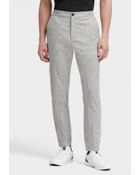 DKNY Windowpane Check Pant - Gray