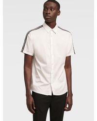 DKNY Short Sleeve Stripe Shirt - White