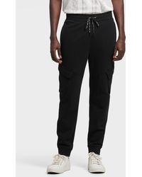 DKNY Slim Cargo Knit Jogger - Black
