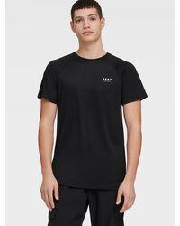 DKNY Synthetic Jersey Tee - Black