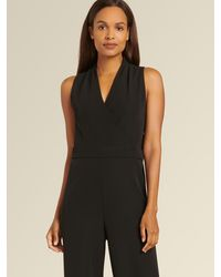 DKNY Donna Karan Sleeveless Jumpsuit - Black