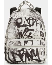 DKNY Abby Graffiti Backpack - White
