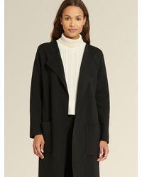 DKNY Donna Karan Open Front Sweater - Black