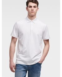 DKNY Solid Polo - White