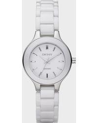 DKNY - White Ceramic Watch - Lyst