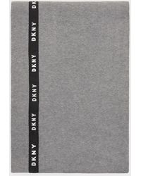 DKNY Logo Taping Scarf - Gray