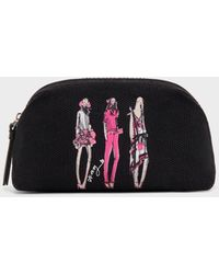 DKNY Sketch Girls Cosmetics Pouch - Black