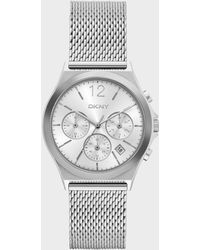 DKNY - Parsons Stainless-steel Multifunction Watch - Lyst