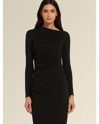 DKNY Donna Karan Ruched Midi Dress - Black